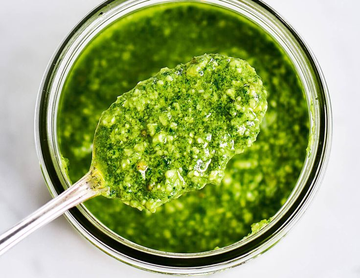 Easy kale pesto that will knock your socks off! Because, pesto is DELISH! Whole30, paleo, and dairy free. Ready in five minutes.