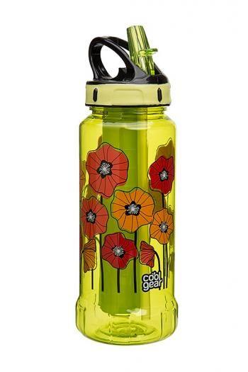 Butelka Rigid z wkładem żelowym oraz z nadrukiem, zielona (pojemność 600 ml) - Cool Gear