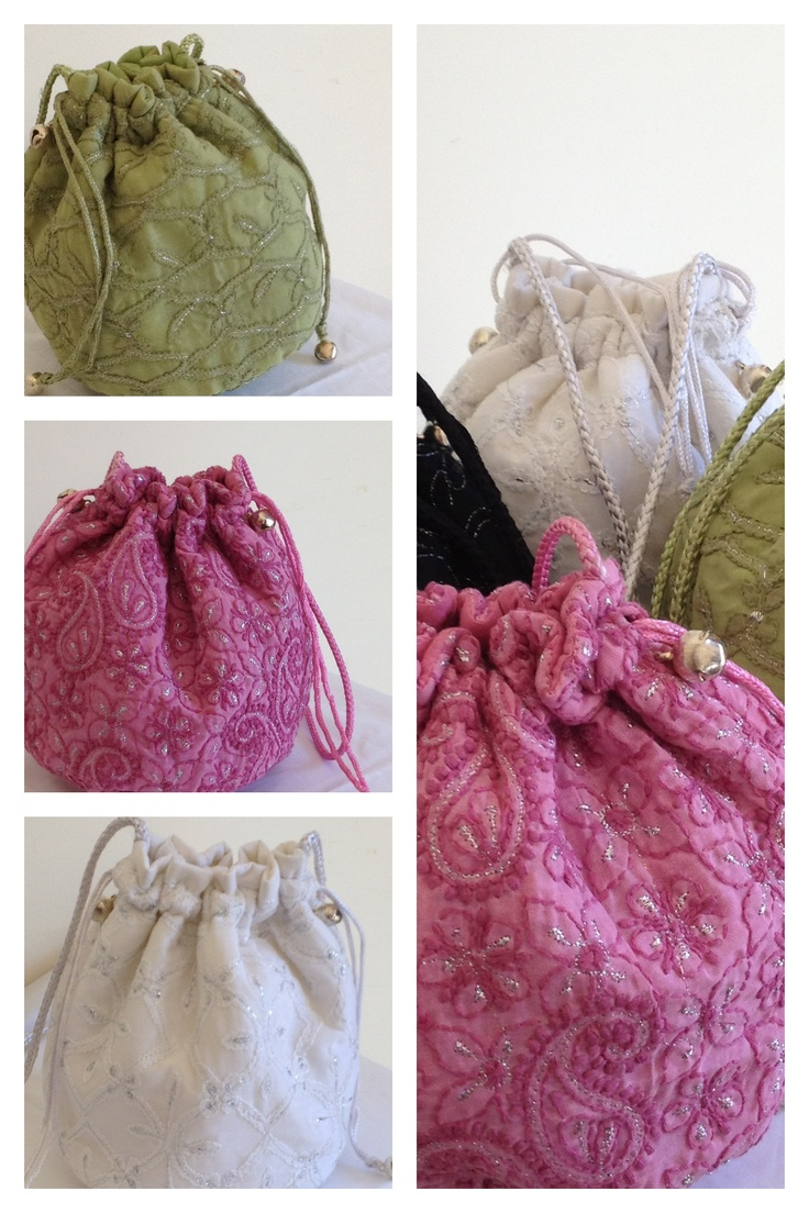Bags in Chikankari embroidery