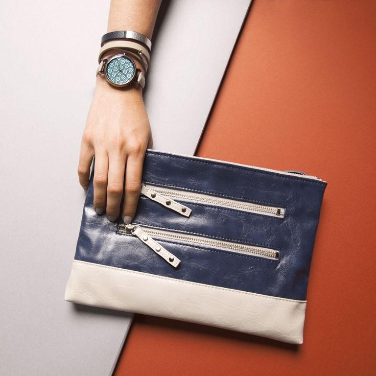 TOKYObay Watch Mitsu- with Blue Geometric patterned face. Also ...