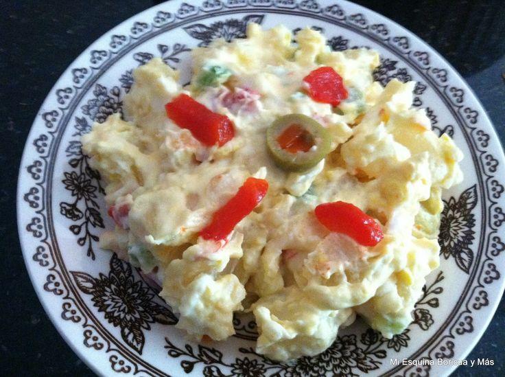 Ensalada de papas   Puedes añadirle cebolla, manzana y apio picadito   Ingredientes   6 papas grandes,...