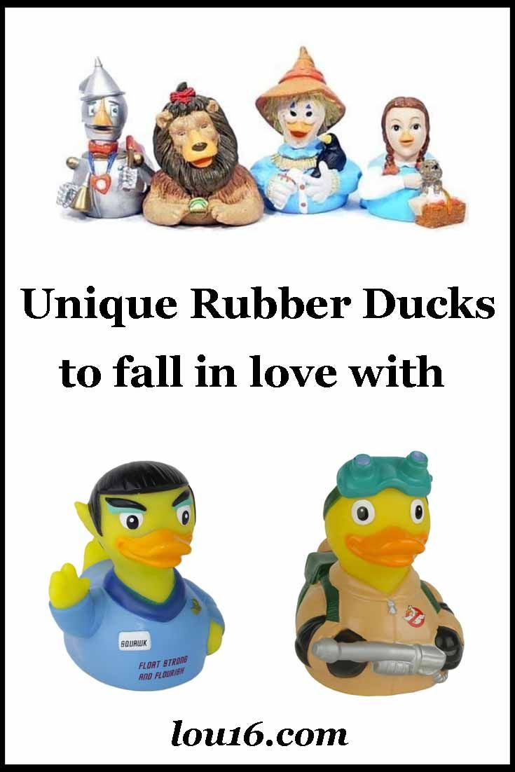 Cool collection of unique rubber ducks crossed with celebrities - what every bathtub needs!