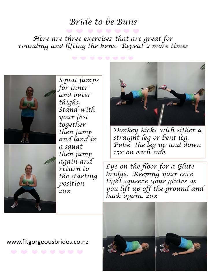 Fit into that dress with this quick butt and thigh workout. Wedding fitness. Check out the blog for recipes and fitness tips for Brides to Be.