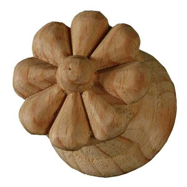 Large floral knob carving and pine