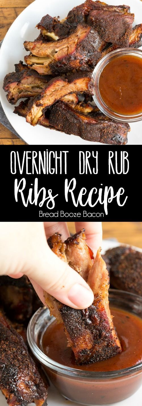 Overnight Dry Rub Ribs are crazy easy to make, loaded with flavor, and fall off the bone tender! Let your oven do the work while you sleep!