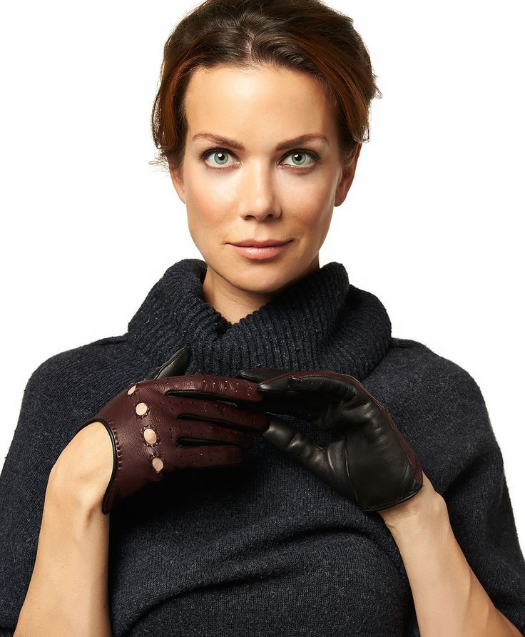 "These leather driving gloves incorporate the latest Italian styling; two-tone color combinations with a ""swoop"" back design. Machine-stitched from the finest Italian lambskin, they have been styled and cut to perfectly fit a lady's hand. Along with the careful construction you expect from artisan glovemakers, they feature all of the details you'd expect in a high fashion Italian leather driving glove, including knuckle holes for flexibility, finger vents to keep your hands cool."