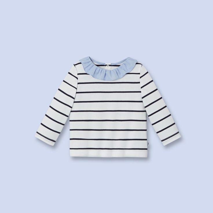T-shirt à manches longues pour bébé, fille
