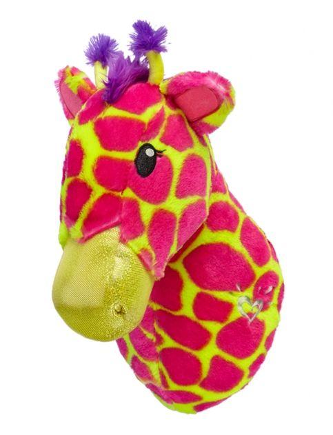 Giraffe stuffed animal headmount girls room accessories for Room decor justice