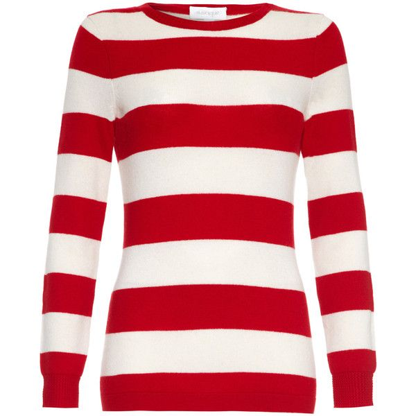 Austique Perfect Jumper Stripe Red And White found on Polyvore
