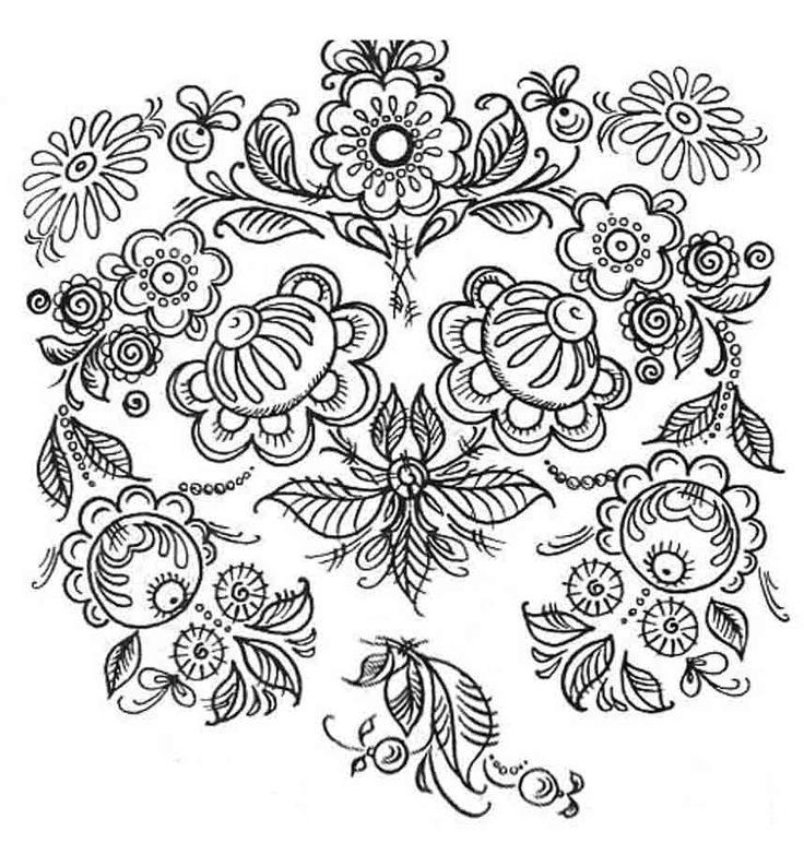 Русский орнамент картинки раскраски, совами