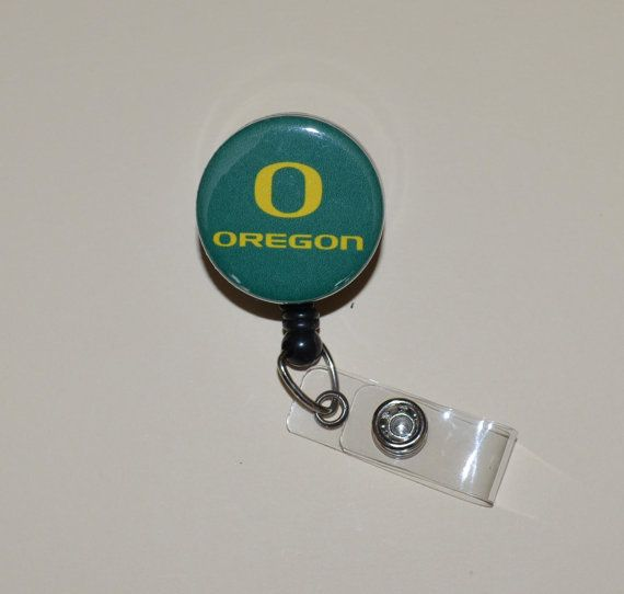 University of Oregon Button Badge Reel Cover by McLeahCreations, $8.00