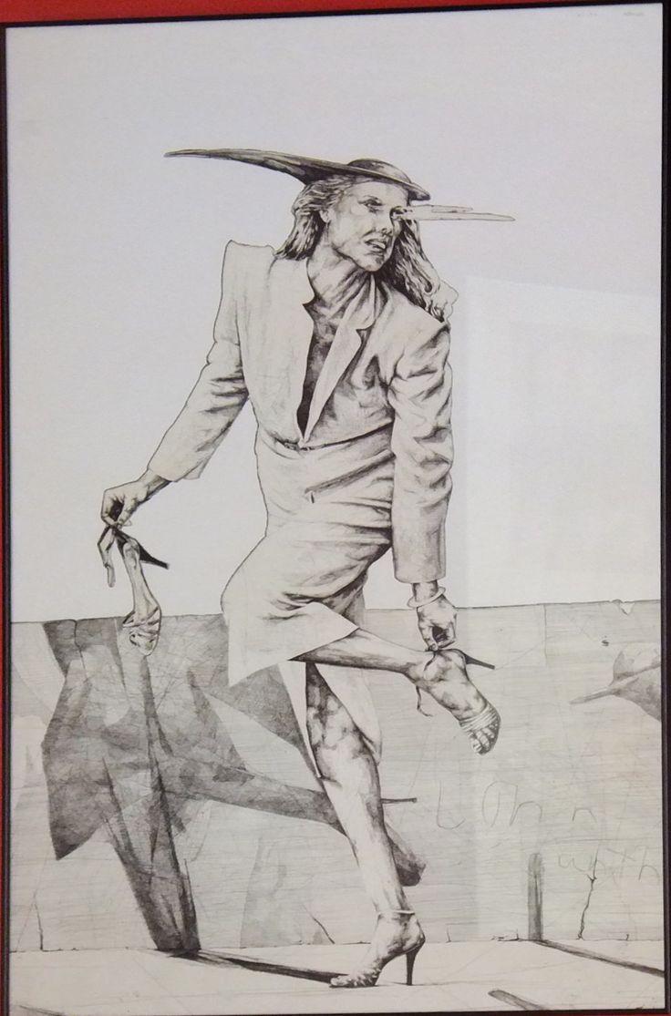 Sin título.                                                                              Obra gráfica. Edición: 21/50.                                                                                Mancha: 105,5 x 66 cm.                                                                                           Marco: 107 x 67 x 2 cm.