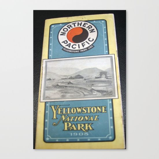Yellowstone Northern Pacific Rail Time Table Canvas Print