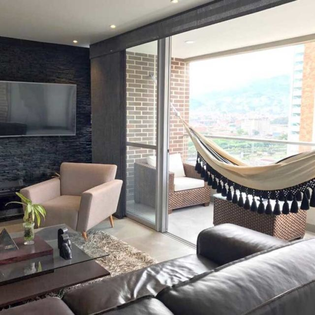 This Picture is sent by our customer who lives in Panama. Getting an indoor hammock will create an oasis at home, a space to relax and enjoy, a happy corner that can be glamorous or bohemian.