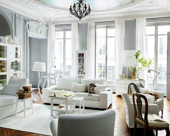 Gray comes in many different shades,  it can be soothing, sophisticated, or glamorous.   I love gray walls in a living room or bedroom,   and when it is the color of a beautiful gown.