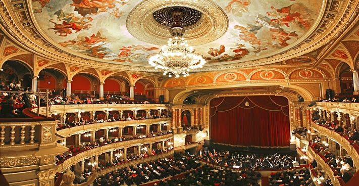 Opera house in Budapest.