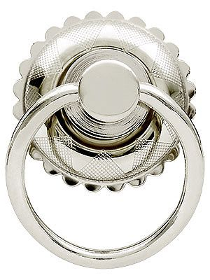 Drawer Pulls for Furniture. Eastlake Round Ring Pull In Brass or Nickel Finishes