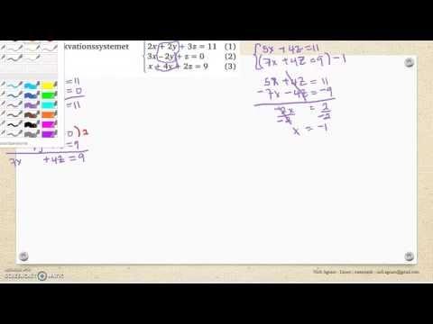Matematik 5000 Ma 2c   Kapitel 1    Linjära ekvationssystem  Ekvationssy...