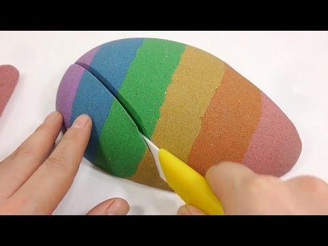 Kinetic Sand Cake Rainbow Colors Coca Cola Coke Toy Surprise Eggs - YouTube