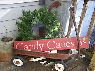 Backdoor PrimitivesBackdoor Primitives, Primitives Christmas Decor, Primitive Christmas Decorating, Canes Signs, Candies Canes, Candy Canes, Christmas Display, Christmas Porches, Front Porches