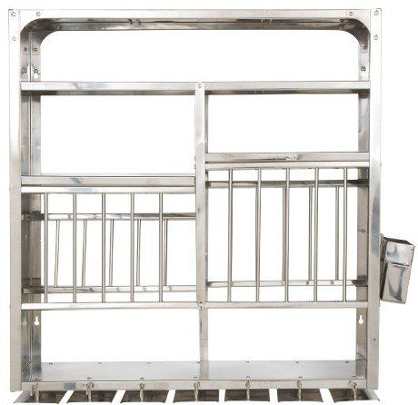 Stainless Steel Dish Dryer Kitchen Plate Rack Stainless Steel   Wall  Hanging (76X24X76 Cm)