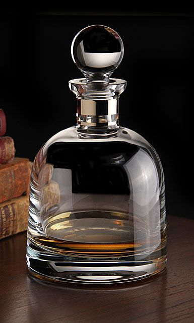 Waterford Elegance Short Decanter with Round Stopper, Platinum Band