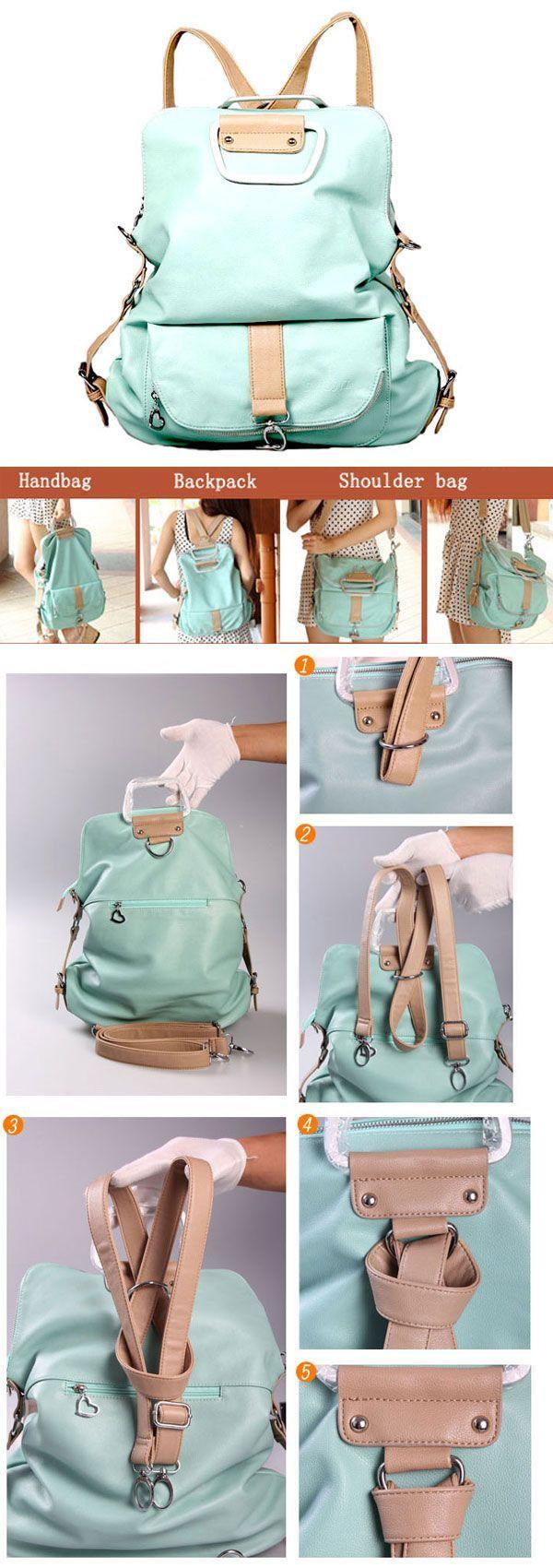 I am so happy to find the Unique Fresh Multifunction Backpack & Handbag & Shoulder Bag from ByGoods.com. I like it