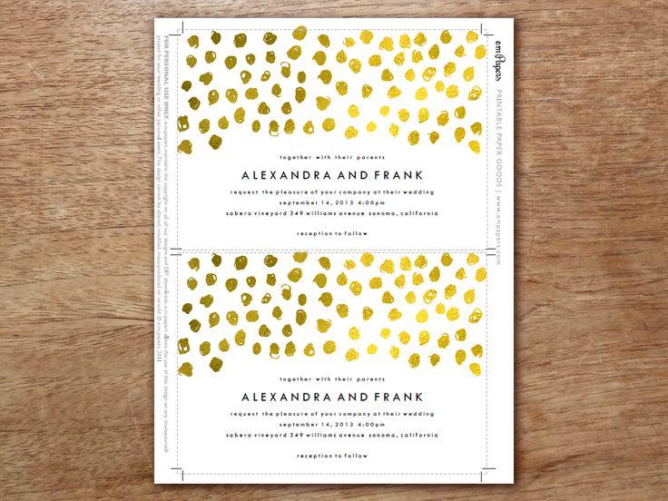 Best Printable Wedding Invitation Sets Images On