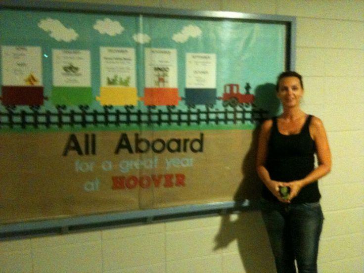 train bulletin board | Back to School bulletin board