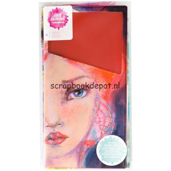 Scrapbookdepot - Jane Davenport Butterfly Effect Pocket Inserts translucent 4/pkg - ac376699 - American Crafts - Mixed Media journals