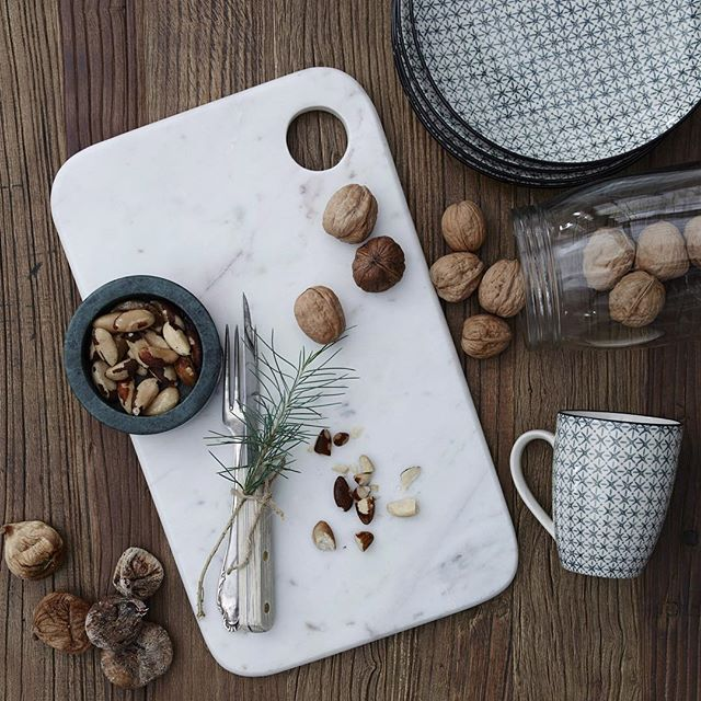 We still love marble in all colors! Check out this cutting board