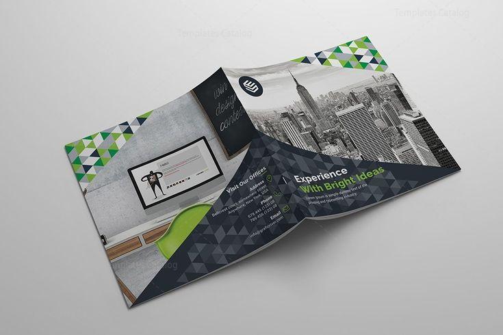 Fancy Corporate Bi-Fold Brochure Template 000797