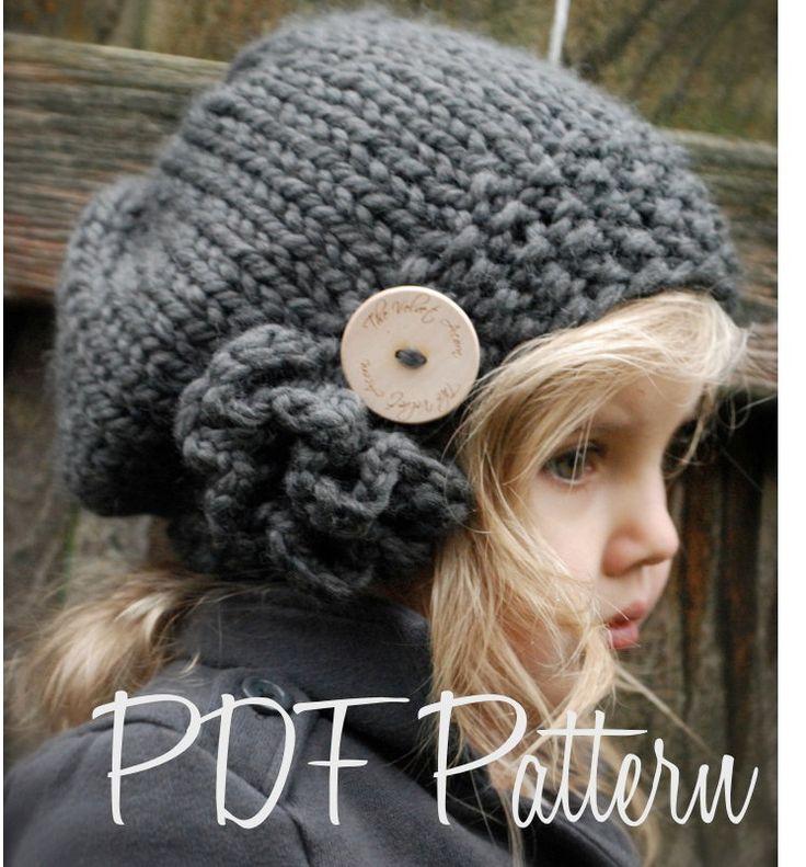 Knitted Beret Pattern Toddler : Knitting PATTERN-The Bennett Beret (Toddler, Child, Adult sizes) Berets, Kn...