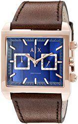 Armani Exchange Men's AX2225 Tenno Analog Display Quartz Brown Watch