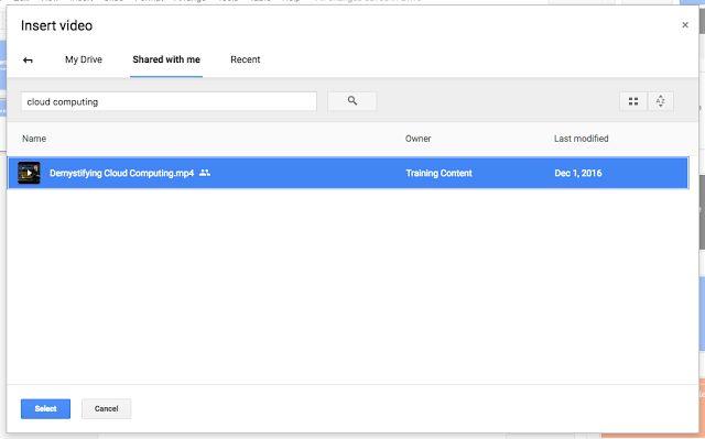 Da oggi è possibile inserire file video nelle presentazioni Google