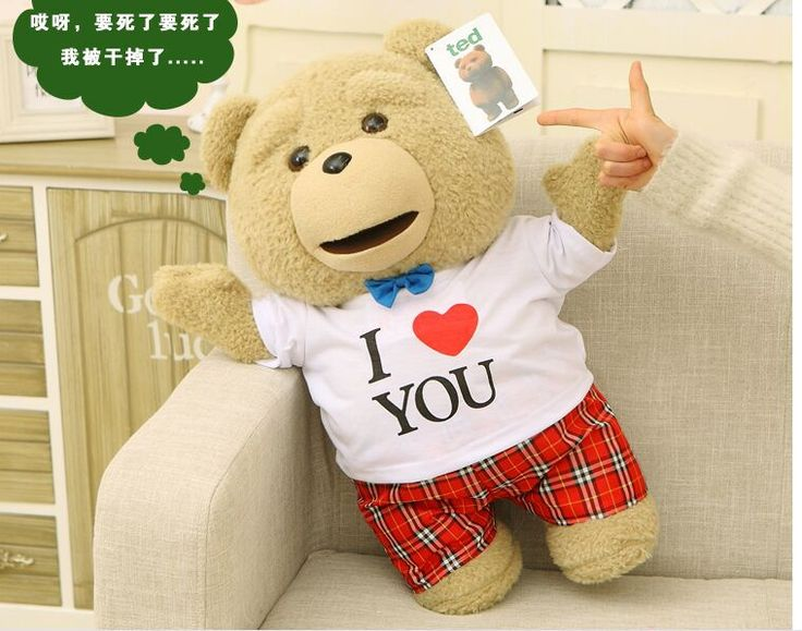 big cute plush teddy bear doll lovely love T-shirt Ted bear toy gift about 60cm //Price: $US $53.99 & FREE Shipping //     #rchelicopters