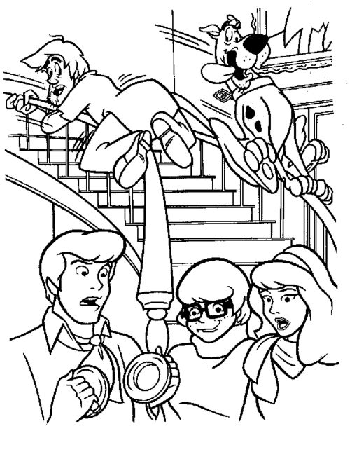 scooby doo coloring pages bing images - Scooby Doo Coloring Book