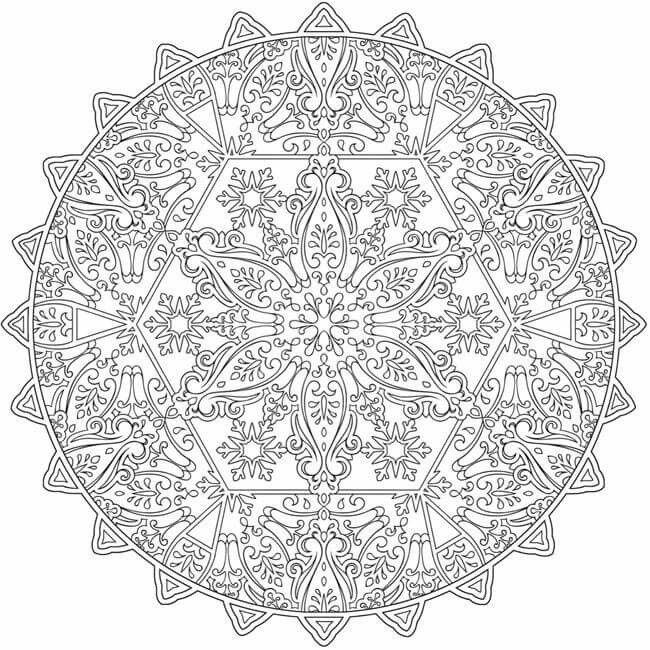 welcome to dover publications ch snowflake mandalas - Coloring Pages Mandalas Printable
