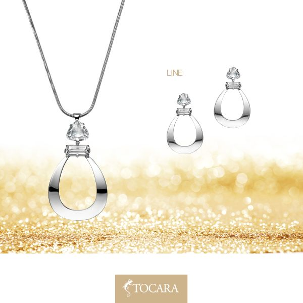 """Offer her the """"LINE"""" Collection for Christmas. Line - Necklace (99 $), Line - Earrings (79 $) 
