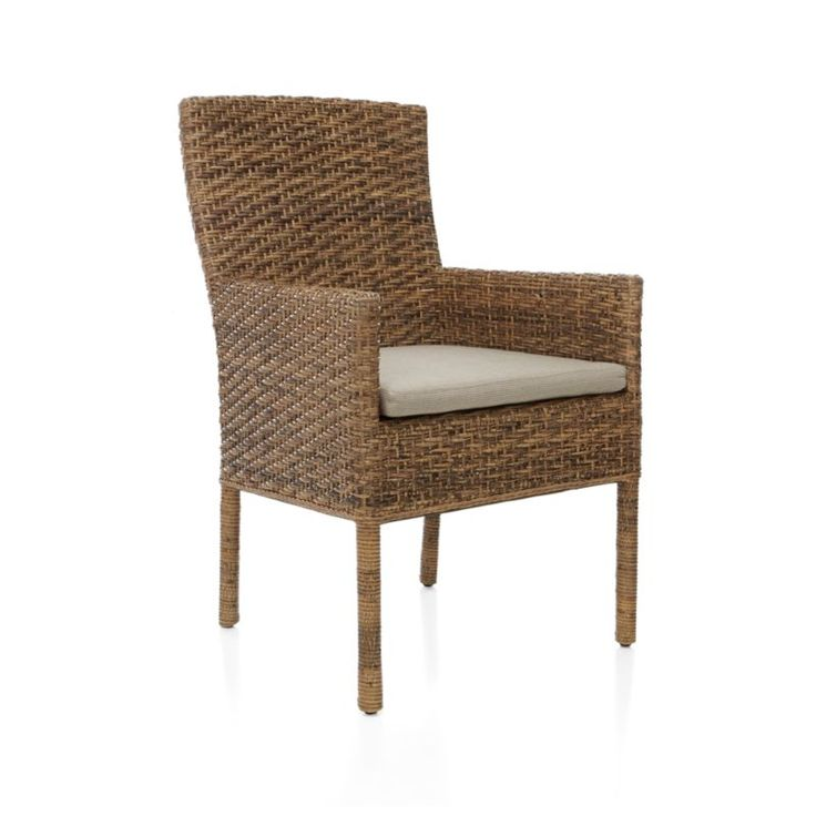 Tigris Dining Arm Chair | Crate and Barrel