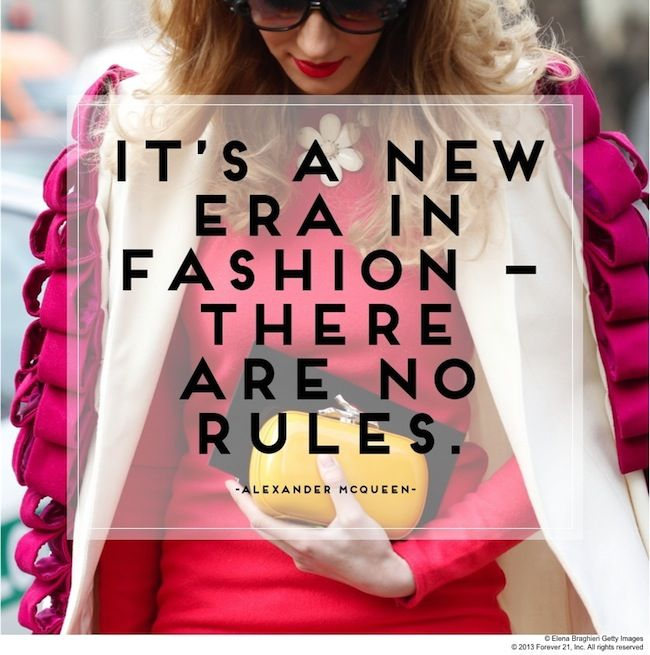 Fashion Knows No Boundaries #Quote #Fashion #Rules #AlexanderMcQueen