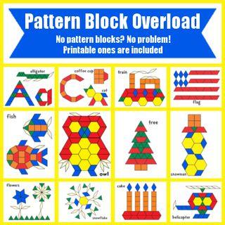 *FREE* Pattern Block Templates   Upside Down Homeschooling   Bloglovin'