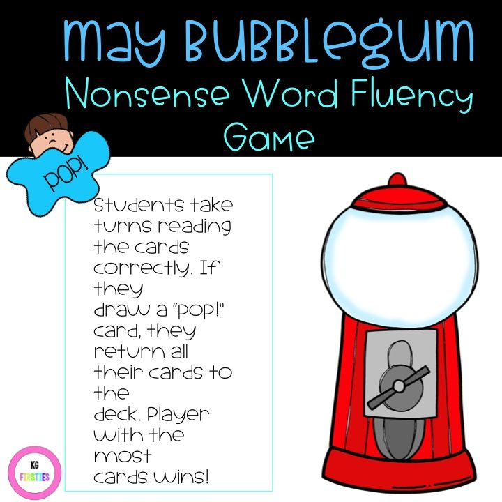If you work on nonsense fluency words, this game is perfect for you! Aligns well for practicing for DIBELS testing.   72 NWF cards   This is a continuous game as students will draw a card that requires them to return all their cards to the draw pile.   Just print, laminate for durability, and shuffle! My first grade friends love reading these! They have to read the word as a whole word or they do not get to keep the card. They eagerly wait to see if they will get an POP card and have to put…