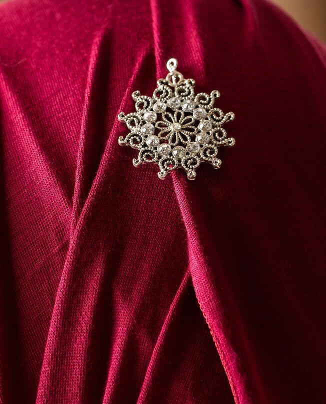 Sunburst Hijab Pin-Clear