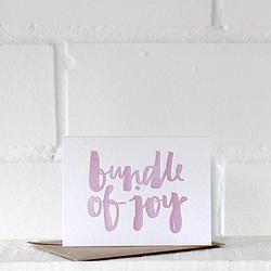 Bundle of Joy {pink} - letterpress card
