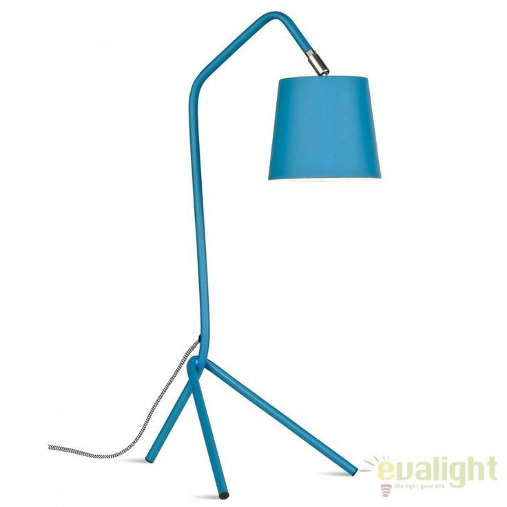 Lampa de masa din metal cu 3 picioare BARCELONA albastru BARCELONA/T/TL - Corpuri de iluminat, lustre, aplice