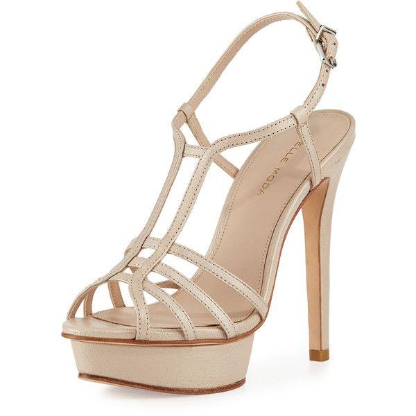 25  parasta ideaa Pinterestissä: Cream strappy heels