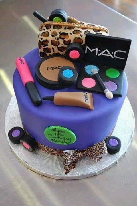 Mac Makeup Cake Cakes Pinterest Birthdays Mac