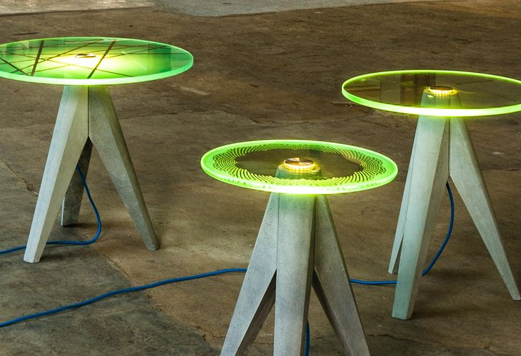 holy-tristan-table-lighted-trio - Design Milk