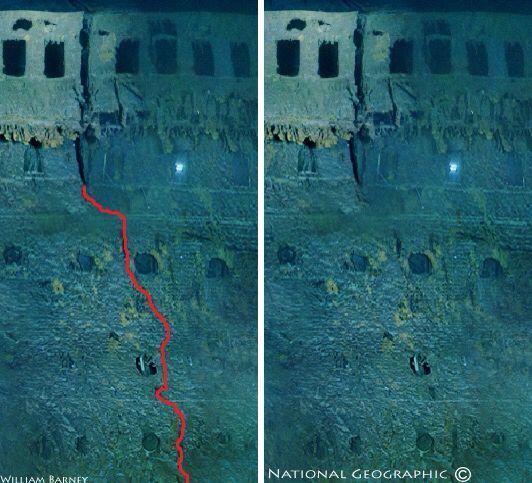 Titanic fracture line....